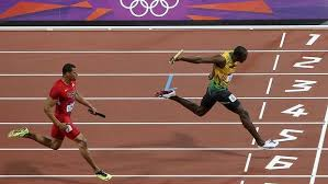 Usain Bolt. Resistance is always strongest at the finish line.