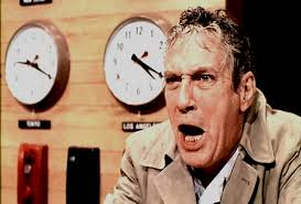 "Peter Finch in Paddy Chayefsky's NETWORK. ""I'm mad as hell and I'm not gonna take it anymore!"""
