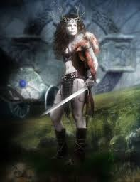 Boudica, Warrior Queen of ancient Britannia.