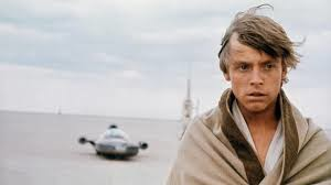 Mark Hammill as Luke Skywalker on the evaporate farm on Tatooine