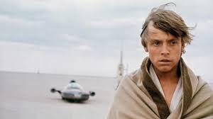 Mark Hammill as Luke Skywalker on the evaporate farm on Tatooine