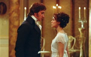 Matthew Macfadyen as Mr. Darcy and Keira Knightley as Elizabeth Bennet in Joe Wright's Adaptation of Jane Austen's Pride and Prejudice