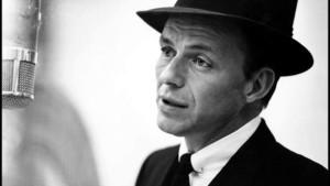 Frank Sinatra sings ... and he prepares to sing.