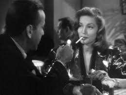 "Bogey and Bacall in ""The Big Sleep"""